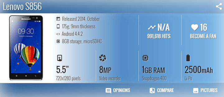 Cara Flash Lenovo S856 Via FlashTool
