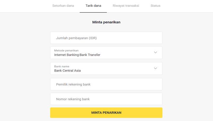 Tarik Dana Binomo Lewat Bank Indonesia